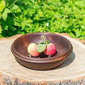 Посуда handmade. Livemaster - original item Wooden Platter from natural wood of Siberian Cedar #T30. Handmade.