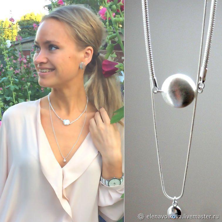 Double long chain with pendants - spectacular stylish decoration, Necklace, Yaroslavl,  Фото №1