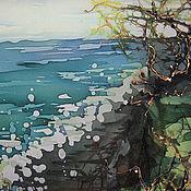 Картины и панно ручной работы. Ярмарка Мастеров - ручная работа Морской берег. Handmade.
