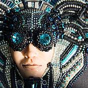 Украшения ручной работы. Ярмарка Мастеров - ручная работа Wired Gorgon - колье из бисера и Swarovski, киберпанк, cyberpunk. Handmade.