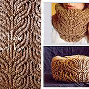 Аксессуары handmade. Livemaster - original item Set knitted Elegant Curl, knitted hat, knitted scarf - snud.. Handmade.