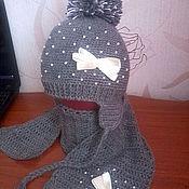 Работы для детей, ручной работы. Ярмарка Мастеров - ручная работа шапочка и шарф для девочки. Handmade.