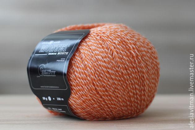Носки, Чулки ручной работы. Ярмарка Мастеров - ручная работа. Купить Оранжевый Замок МОНТЕ 70% мериносовая шерсть, 30% акрил HANDMADEBEAUTY. Handmade.