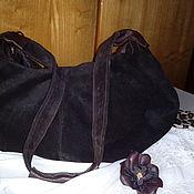 Сумки и аксессуары handmade. Livemaster - original item Наndbag made of suede. Handmade.