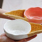 """Посуда ручной работы. Ярмарка Мастеров - ручная работа Мисочки """"Ice cream"""". Handmade."""