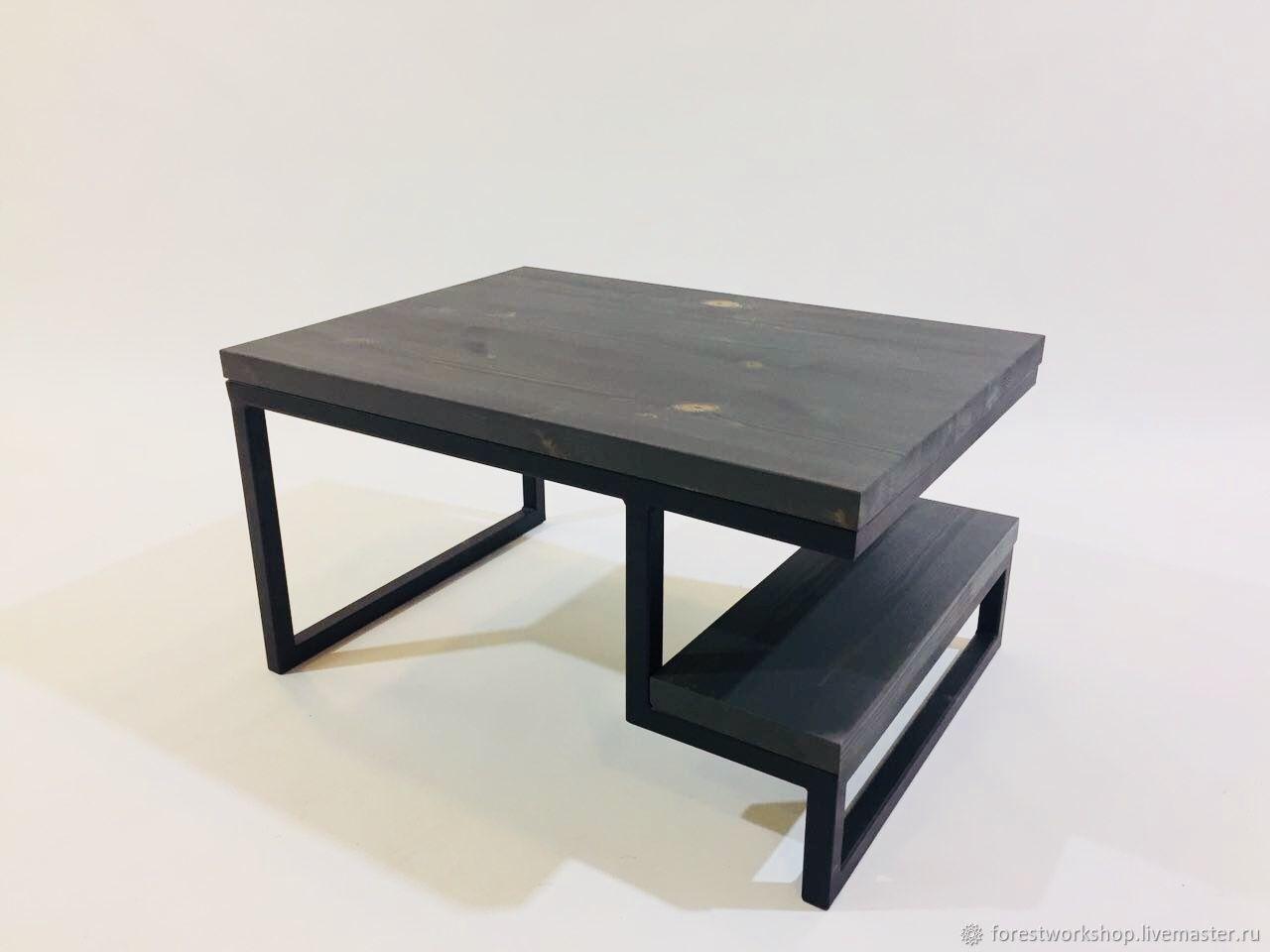 Столик журнальный модель JANGO тёмно-серый  мастер Иван