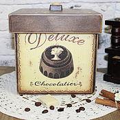 """Для дома и интерьера ручной работы. Ярмарка Мастеров - ручная работа Короб """" Горький шоколад """". Handmade."""