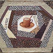 """Салфетки ручной работы. Ярмарка Мастеров - ручная работа ланч мат """"Кофе-пауза"""". Handmade."""