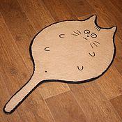 Лежанки ручной работы. Ярмарка Мастеров - ручная работа Лежанка-коврик для кошки «Шерстяной кот». Handmade.