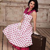 Одежда handmade. Livemaster - original item Retro polka dot dress