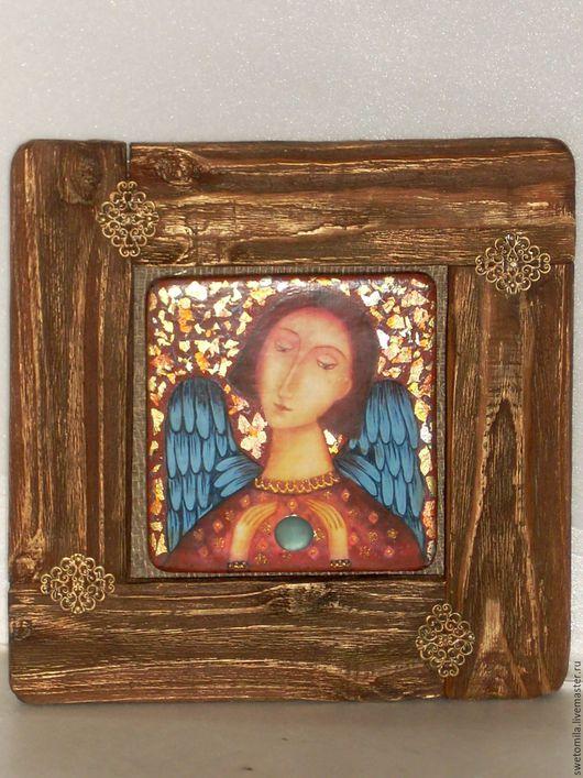 Символизм ручной работы. Ярмарка Мастеров - ручная работа. Купить Ангел-хранитель. Handmade. Панно на стену, домашний ангел, дерево