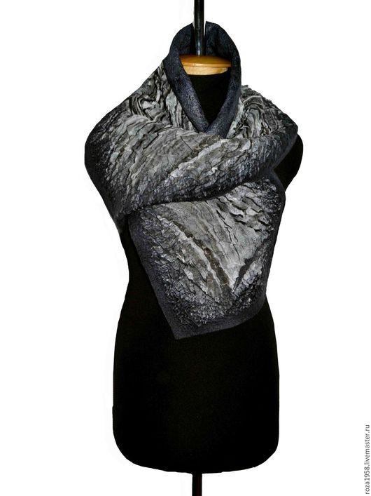 """Шарфы и шарфики ручной работы. Ярмарка Мастеров - ручная работа. Купить Демисезонный  шарф для мужчины """"Нефтяник"""". Handmade. Темно-серый"""