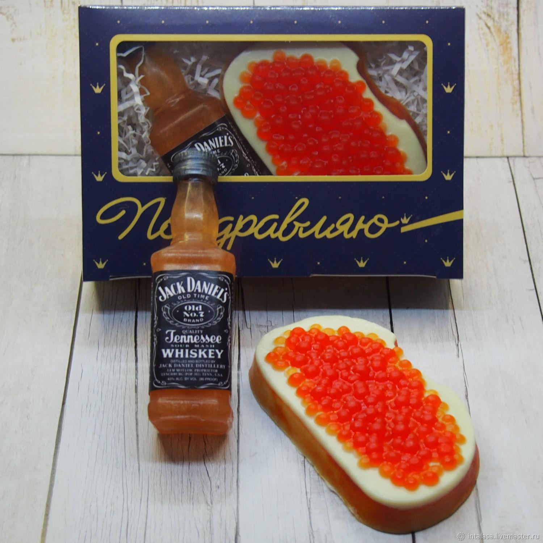 """Набор сувенирного мыла """"Виски и бутерброд с красной икрой"""", Мыло, Москва,  Фото №1"""
