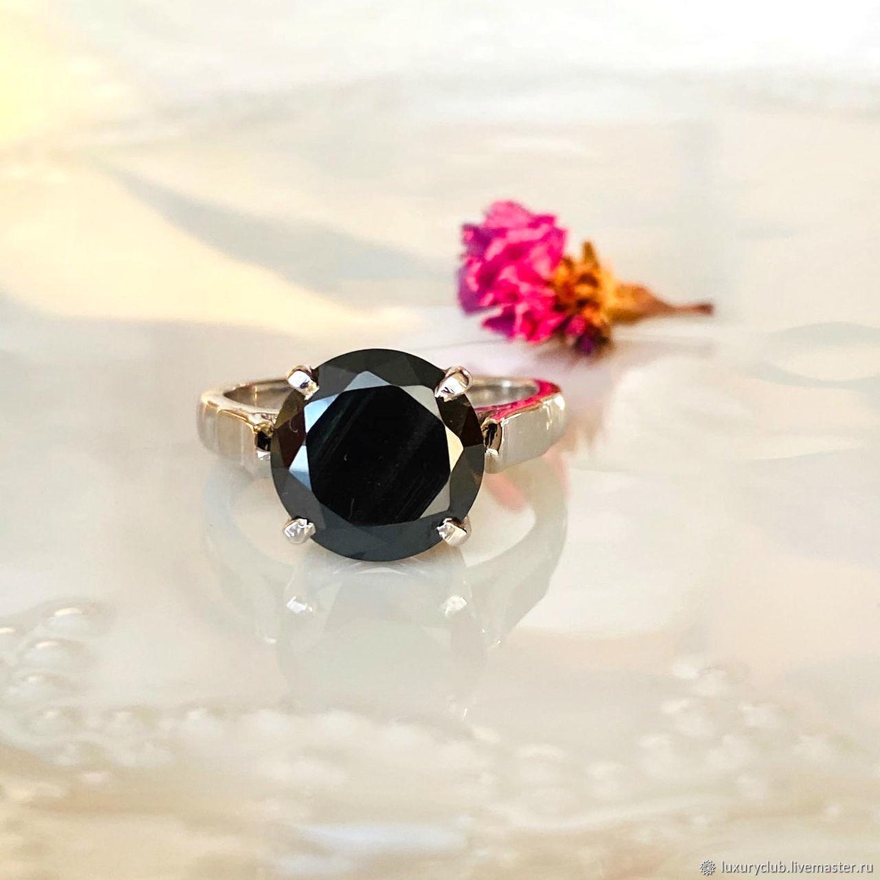 Diamond ring 'Black magic' buy, Rings, Tolyatti,  Фото №1