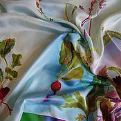 """Аксессуары ручной работы. Ярмарка Мастеров - ручная работа Платок """"Редискин блюз"""" шелк. Handmade."""