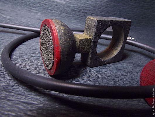 """Кольца ручной работы. Ярмарка Мастеров - ручная работа. Купить Кольцо-кулон из полимерной глины """"Ароза"""". Handmade. Ярко-красный"""