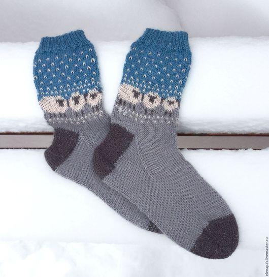 Женские носочки из альпаки с шелком, размер 37 в наличии. Ручная работа.