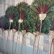 Веера ручной работы. Ярмарка Мастеров - ручная работа Аренда опахал из перьев павлина. Handmade.