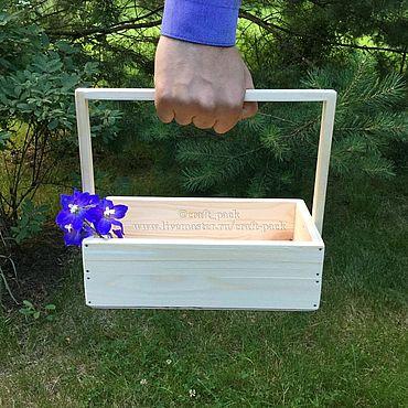 Цветы и флористика ручной работы. Ярмарка Мастеров - ручная работа Ящик из дерева для цветов # 9, деревянный ящик, кашпо деревянное. Handmade.