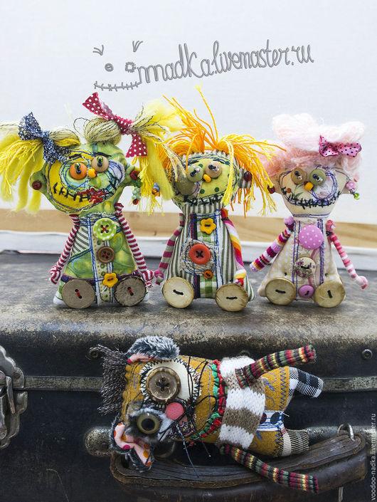 Коллекционные куклы ручной работы. Ярмарка Мастеров - ручная работа. Купить Ёшки-матрёшки и ихий ёшкин Кот) вуду игрушка текстильная. Handmade.