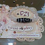 Украшения handmade. Livemaster - original item Bracelet in rose quartz with 2-eyed Dzi bead. Handmade.