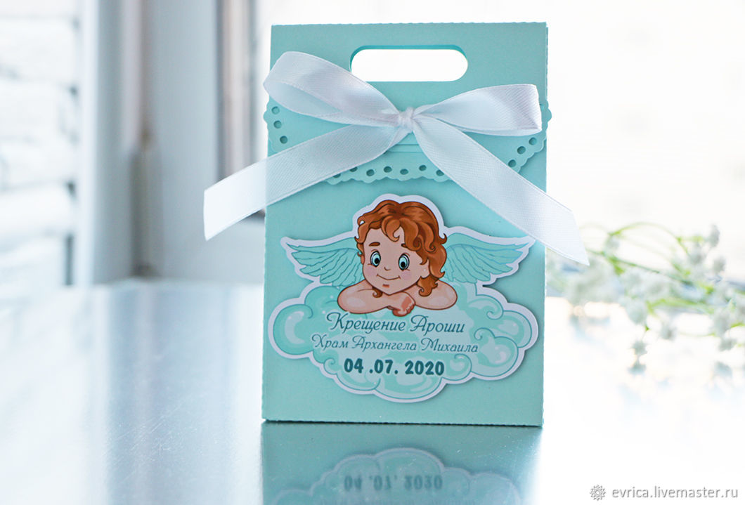 'Angel' wedding favors for christening, Gift wrap, Moscow,  Фото №1