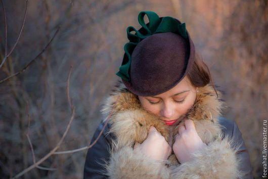 """Шляпы ручной работы. Ярмарка Мастеров - ручная работа. Купить Шляпа """"Коричневый и зеленый"""". Handmade. Коричневый, шляпа зеленый, винтаж"""