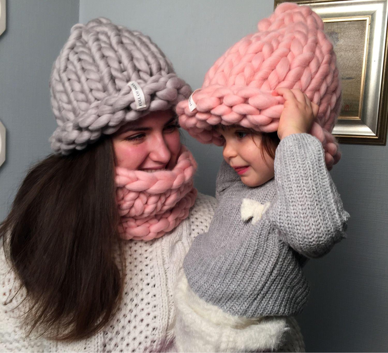Вязание крупными спицами шапка 185