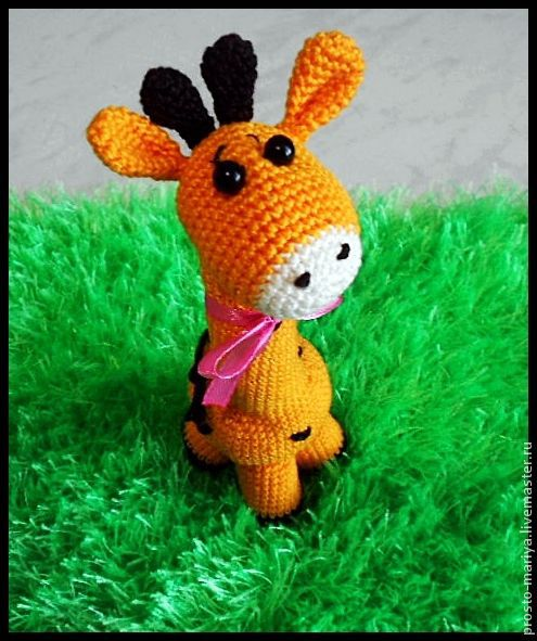 Игрушки животные, ручной работы. Ярмарка Мастеров - ручная работа. Купить Солнечный жирафик. Handmade. Оранжевый, развивающая игрушка, животные