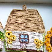 """Для дома и интерьера ручной работы. Ярмарка Мастеров - ручная работа Прихватка """"Хатка"""". Handmade."""