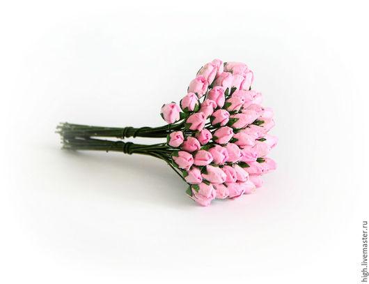 Маленькие бутоны роз, цвет нежный розовый, МБ-1-6