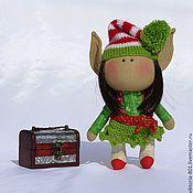 Куклы и игрушки ручной работы. Ярмарка Мастеров - ручная работа Текстильная кукла Рождественский Ельф - interior doll Christmas  Elf. Handmade.