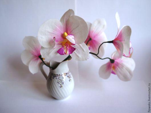 Цветы ручной работы. Ярмарка Мастеров - ручная работа. Купить Цветы из шелка. Орхидея. Handmade. Розовый, орхидея, романтичное украшение