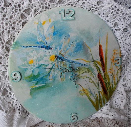 """Часы для дома ручной работы. Ярмарка Мастеров - ручная работа. Купить Часы """"Безмятежность"""". Handmade. Мятный, часы для дома"""