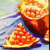 Картины и панно ручной работы. Ярмарка Мастеров - ручная работа Картина маслом Гранаты. Handmade.