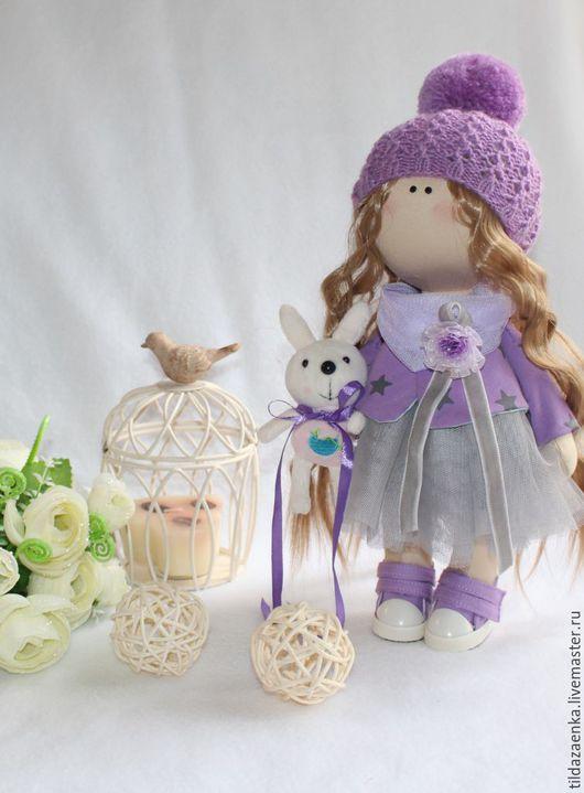 Коллекционные куклы ручной работы. Ярмарка Мастеров - ручная работа. Купить Скромная  малышка. Handmade. Сиреневый, кукла, кукла интерьерная