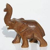 Для дома и интерьера ручной работы. Ярмарка Мастеров - ручная работа Слон фигурка статуэтка из дерева, выточена вручную. Handmade.