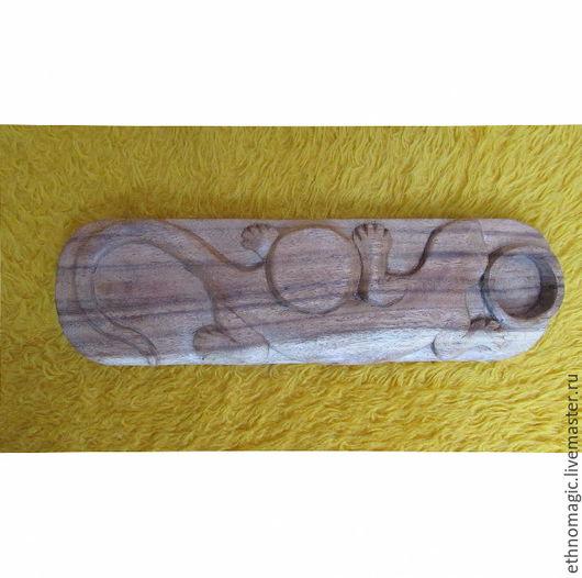 Подсвечники ручной работы. Ярмарка Мастеров - ручная работа. Купить Подсвечник из дерева - Геккон. Handmade. Коричневый, подсвечник, Дерево натуральное