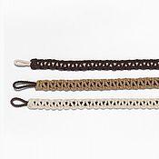Материалы для творчества handmade. Livemaster - original item Tiebacks Pigtail from the cord. Handmade.
