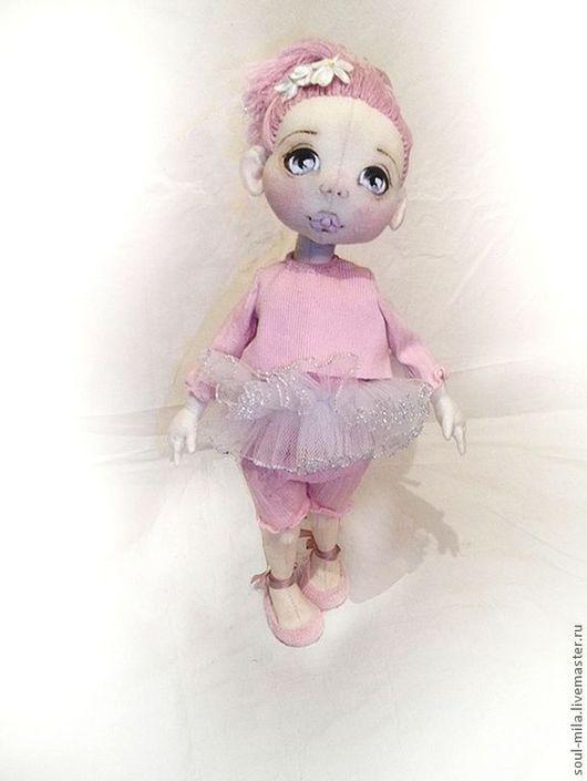 Коллекционные куклы ручной работы. Ярмарка Мастеров - ручная работа. Купить Настя. Handmade. Бледно-розовый, текстильная игрушка, синтепон
