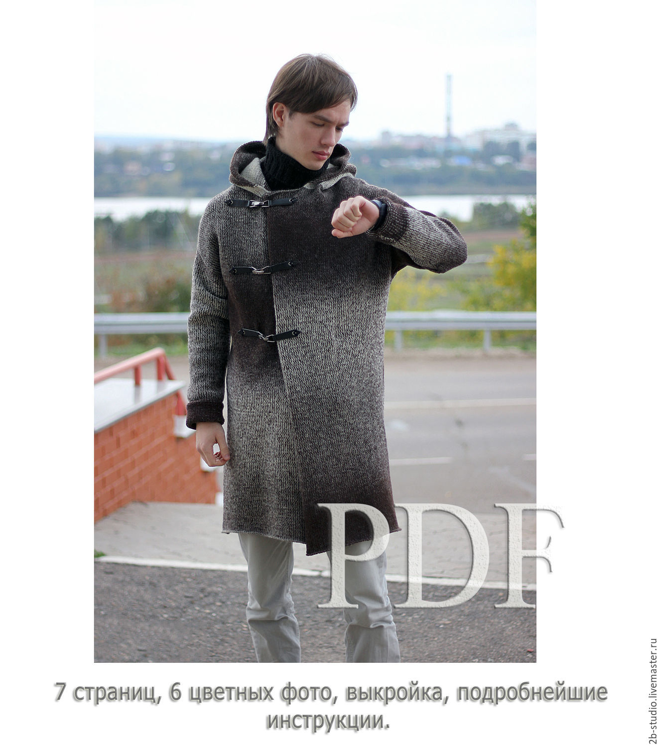A master class in PDF Knitted coat Old monk for knitting machine ...