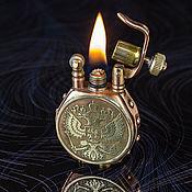 Сувениры и подарки handmade. Livemaster - original item Petrol lighter with double-headed eagle. Handmade.
