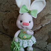 Мягкие игрушки ручной работы. Ярмарка Мастеров - ручная работа Зайка Лето, заяц, вязания игрушка, подарок дочке, present, giftforgirl. Handmade.