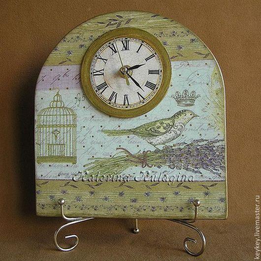 "Часы для дома ручной работы. Ярмарка Мастеров - ручная работа. Купить Часы ""Королевская птичка. Betsy"". Handmade. Kathryn white"