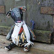 Куклы и игрушки ручной работы. Ярмарка Мастеров - ручная работа Мышь тедди Крыс Крысыч. Handmade.