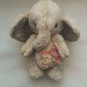 Тедди Зверята ручной работы. Ярмарка Мастеров - ручная работа Тедди Слон. Слоник. Handmade.