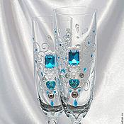 Свадебный салон ручной работы. Ярмарка Мастеров - ручная работа Свадебные бокалы « Морские ангелы». Handmade.