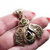 Украшения handmade. Livemaster - original item Pendant of bronze BEETLE RHINO. Handmade.