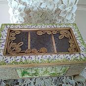Для дома и интерьера ручной работы. Ярмарка Мастеров - ручная работа Шкатулка для чая декупаж Прованс. Handmade.