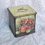 """Для дома и интерьера ручной работы. Ярмарка Мастеров - ручная работа Короб """"Мишки"""". Handmade."""